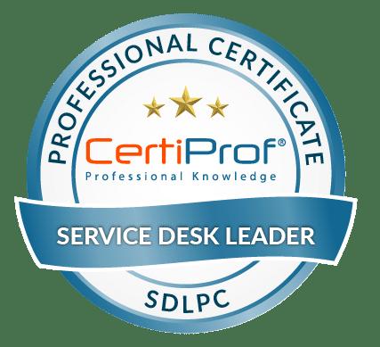 Certiprof Service Desk Leader professional certificate