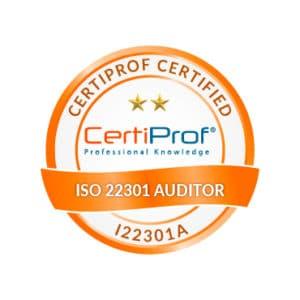 Certiprof Certified iso 22301 Auditor Shop