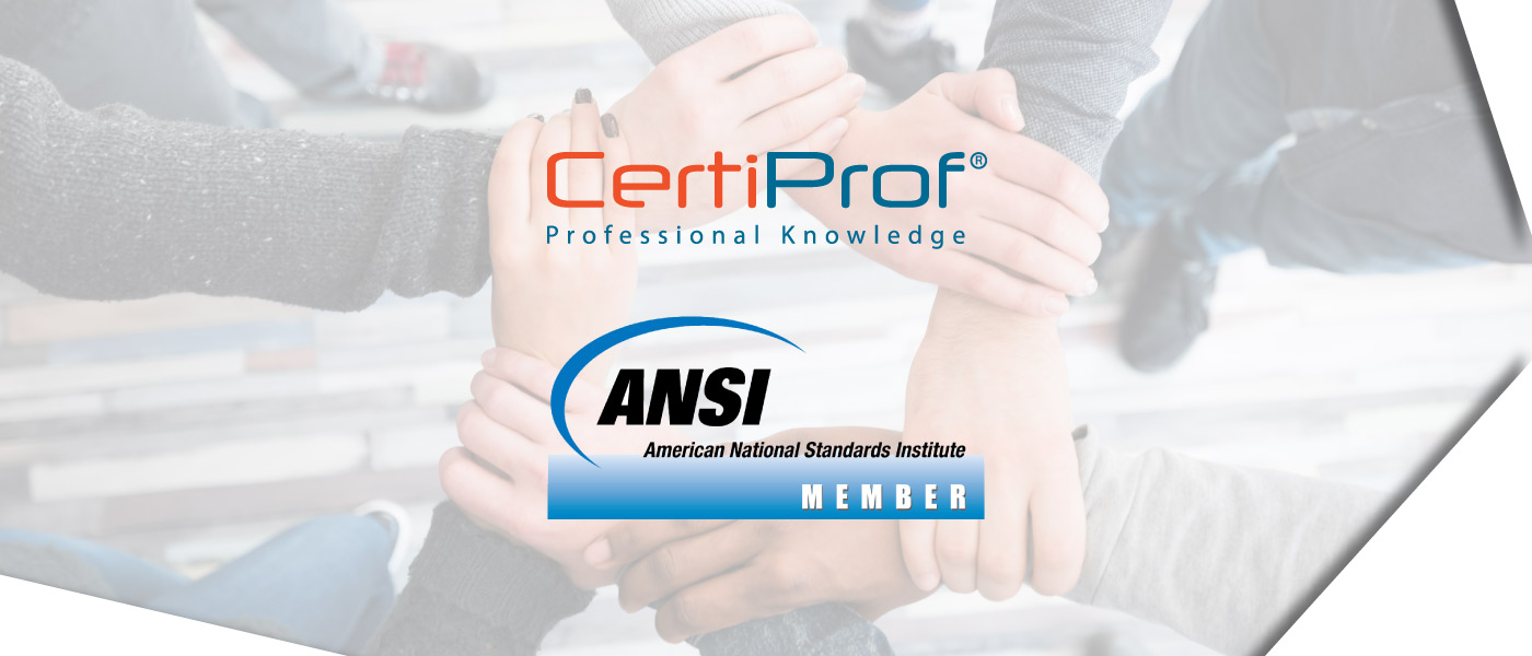 Certiprof proud member of the ansi